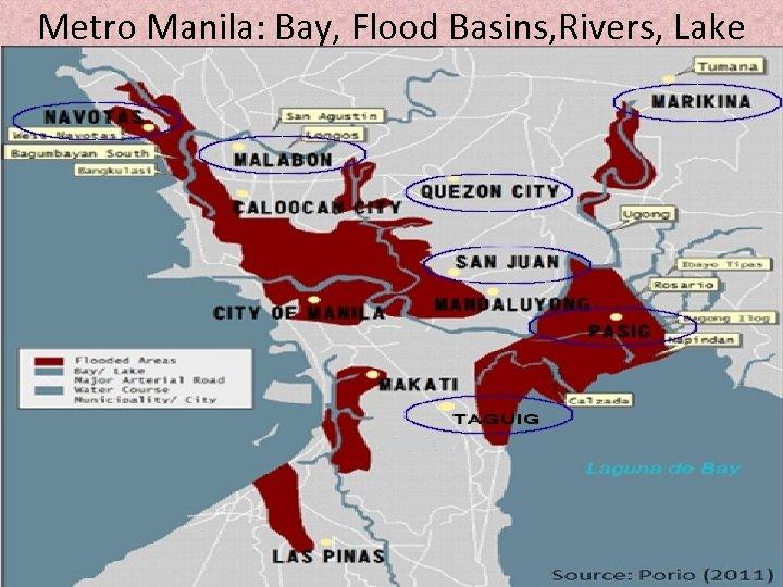Metro Manila: Bay, Flood Basins, Rivers, Lake