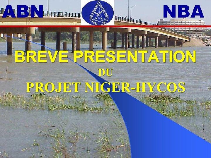 ABN NBA BREVE PRESENTATION DU PROJET NIGER-HYCOS