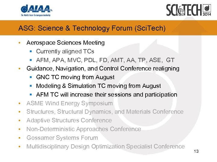 ASG: Science & Technology Forum (Sci. Tech) • Aerospace Sciences Meeting § Currently aligned