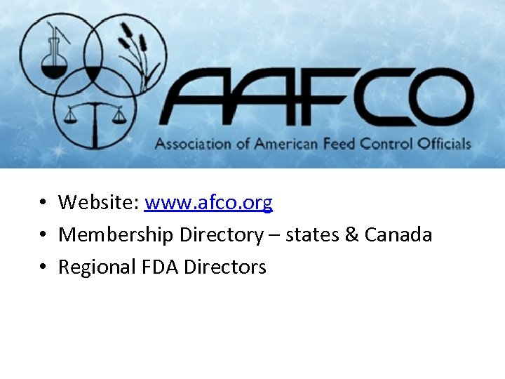 • Website: www. afco. org • Membership Directory – states & Canada •