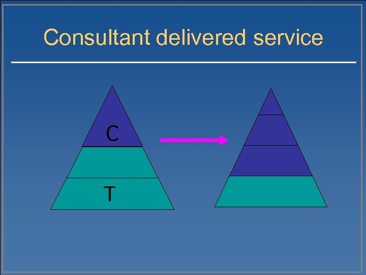Consultant delivered service C T
