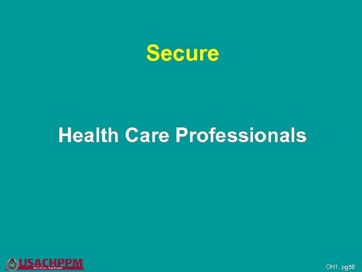 Secure Health Care Professionals OH 1, pg 56