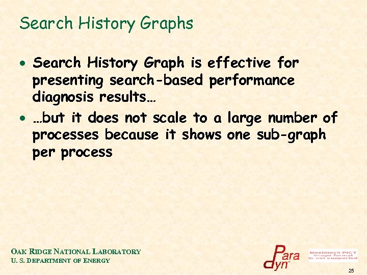 Search History Graphs · Search History Graph is effective for presenting search-based performance diagnosis