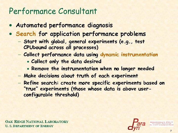 Performance Consultant · Automated performance diagnosis · Search for application performance problems - Start