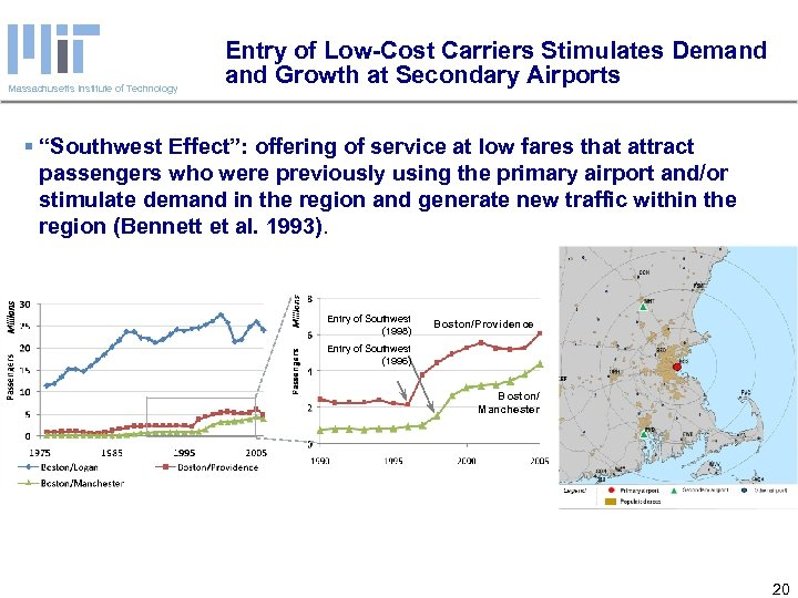 Massachusetts Institute of Technology Entry of Low-Cost Carriers Stimulates Demand Growth at Secondary Airports