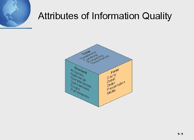 Attributes of Information Quality 9 - 9