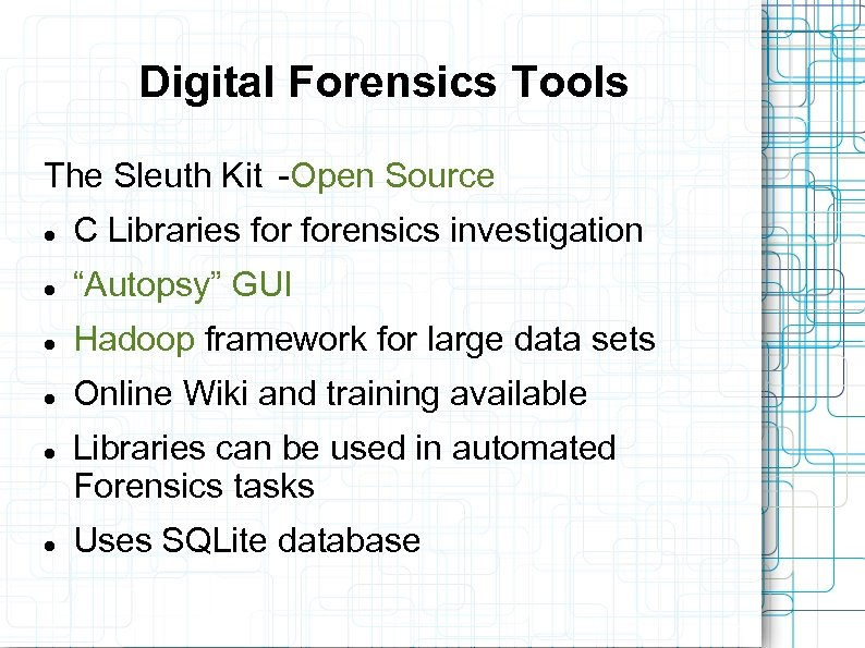 researching the computer forensics investigation plan Digital forensic investigation procedure: form a computer forensics policy suffering a breach is problem enough without having to create a forensics plan on the spot.
