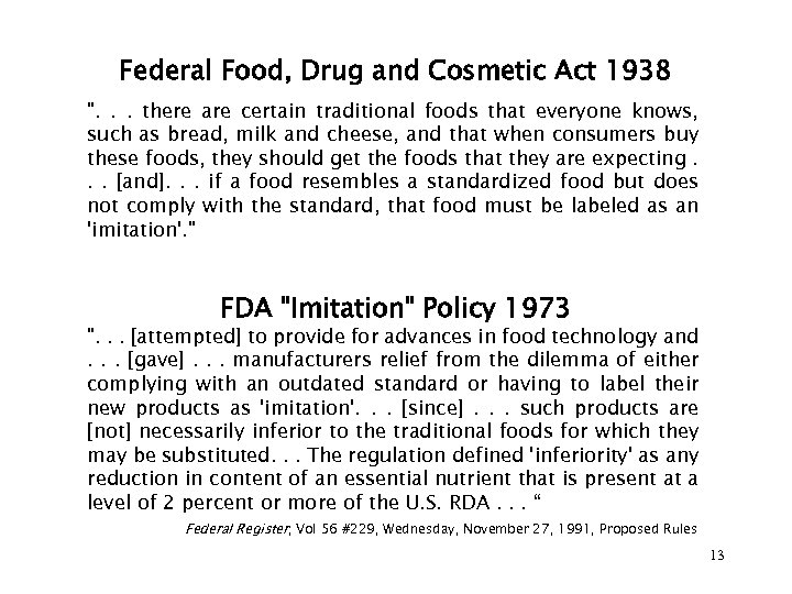 Federal Food, Drug and Cosmetic Act 1938