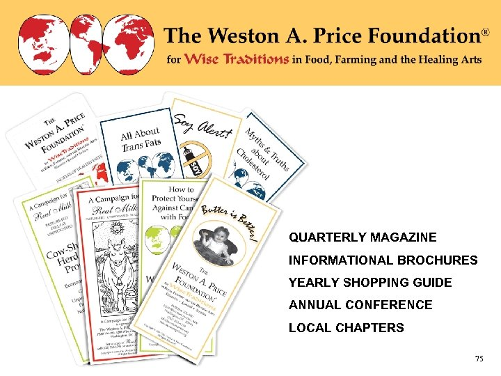 WAPF Brochures QUARTERLY MAGAZINE INFORMATIONAL BROCHURES YEARLY SHOPPING GUIDE ANNUAL CONFERENCE LOCAL CHAPTERS 75