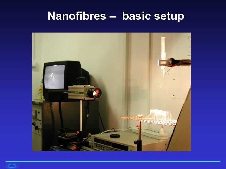 Nanofibres – basic setup