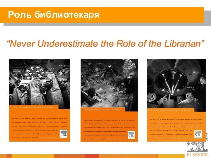 """Роль библиотекаря """"Never Underestimate the Role of the Librarian"""""""