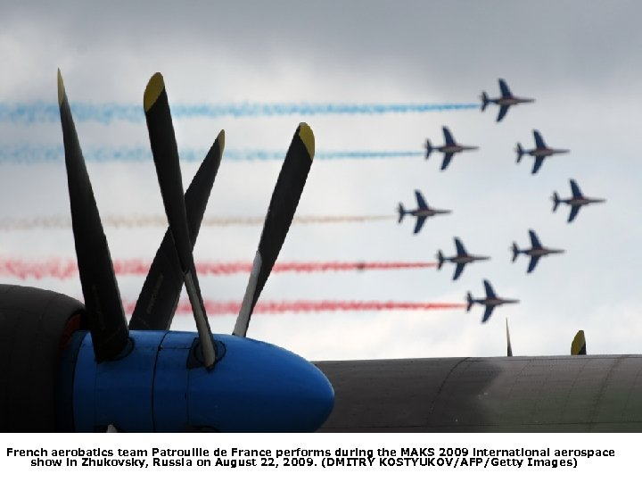 French aerobatics team Patrouille de France performs during the MAKS 2009 international aerospace show