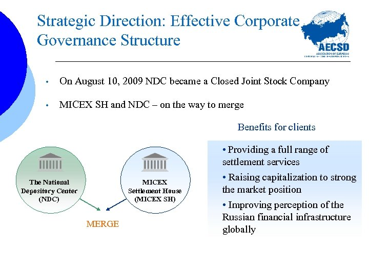 Strategic Direction: Effective Corporate Governance Structure • On August 10, 2009 NDC became a