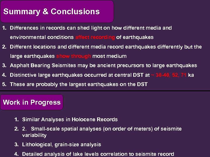 Summary & Conclusions 1. Differences in records can shed light on how different media