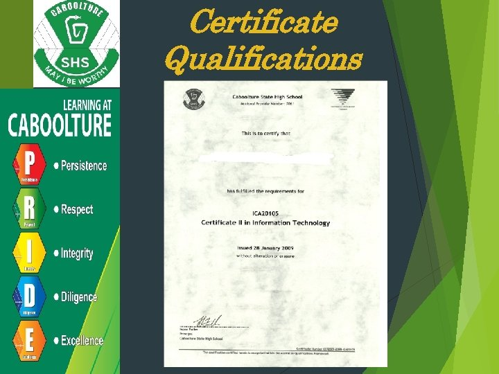 Certificate Qualifications