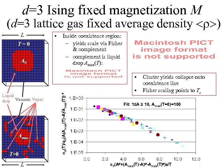 d=3 Ising fixed magnetization M (d=3 lattice gas fixed average density <r>) L T=0