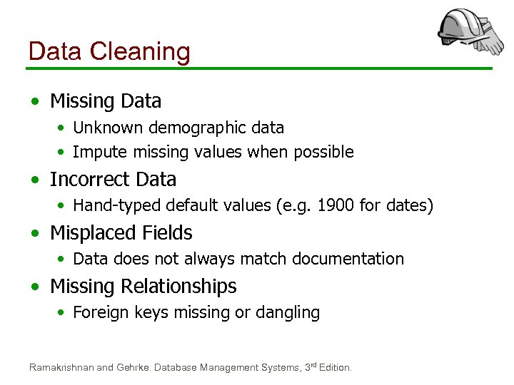 Data Cleaning • Missing Data • Unknown demographic data • Impute missing values when