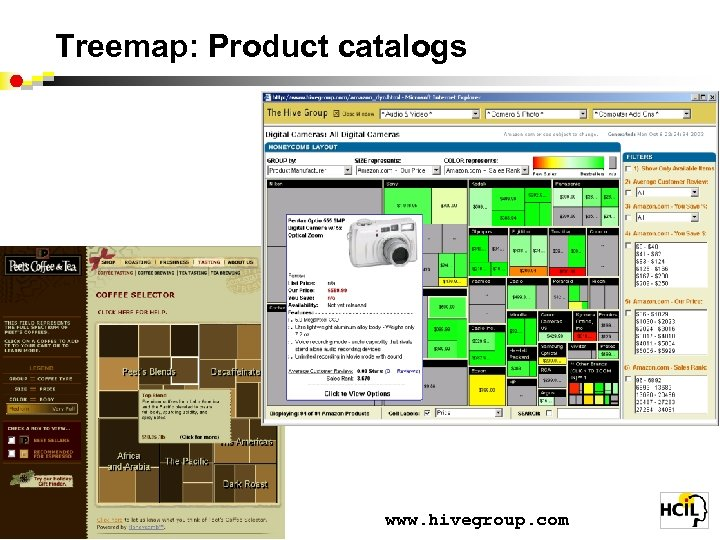 Treemap: Product catalogs www. hivegroup. com