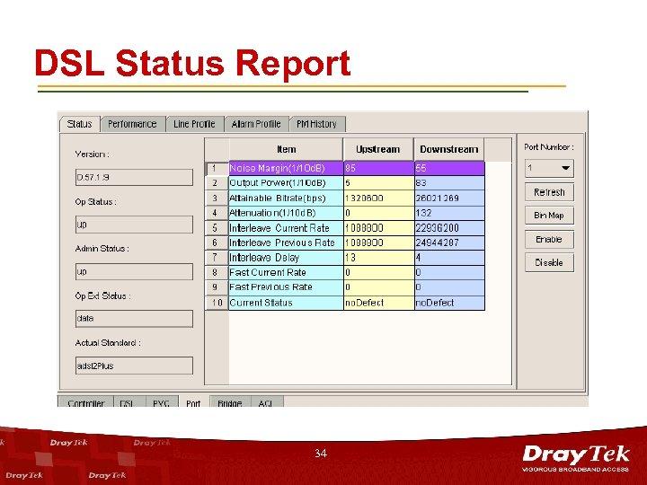 DSL Status Report 34