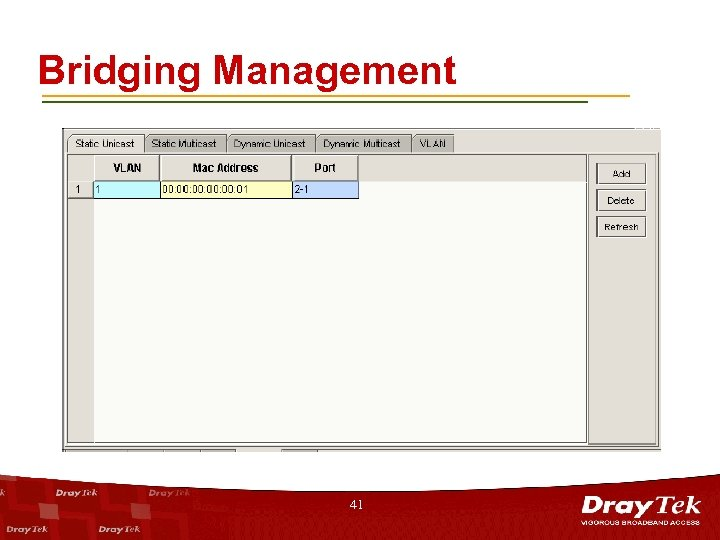 Bridging Management 41