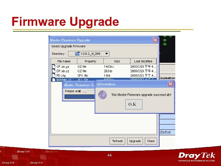 Firmware Upgrade 44
