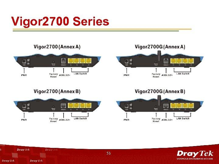 Vigor 2700 Series 53