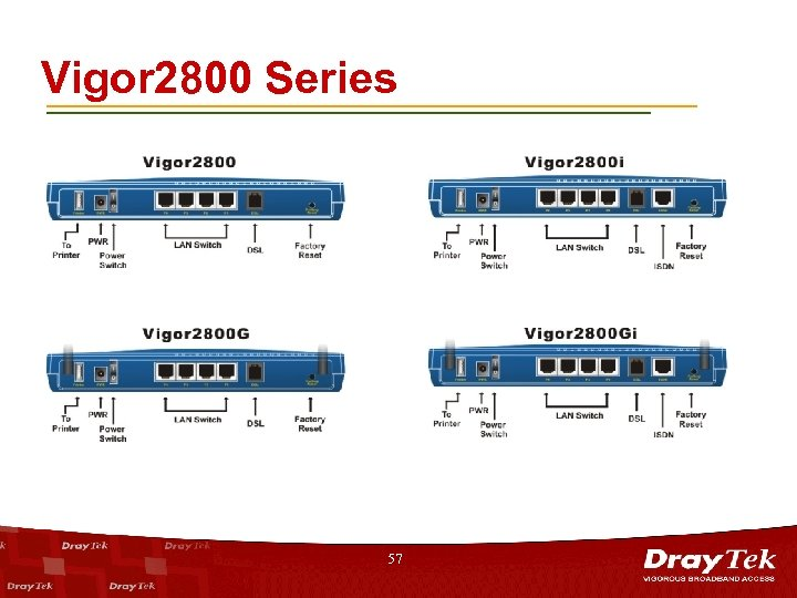 Vigor 2800 Series 57
