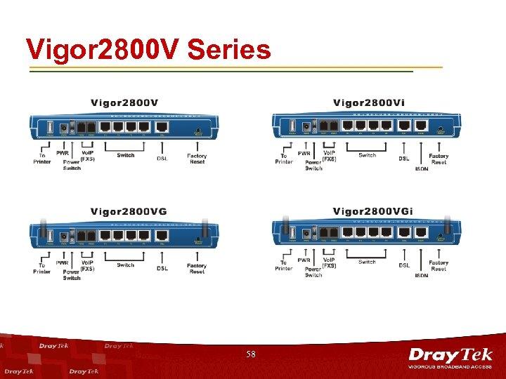 Vigor 2800 V Series 58