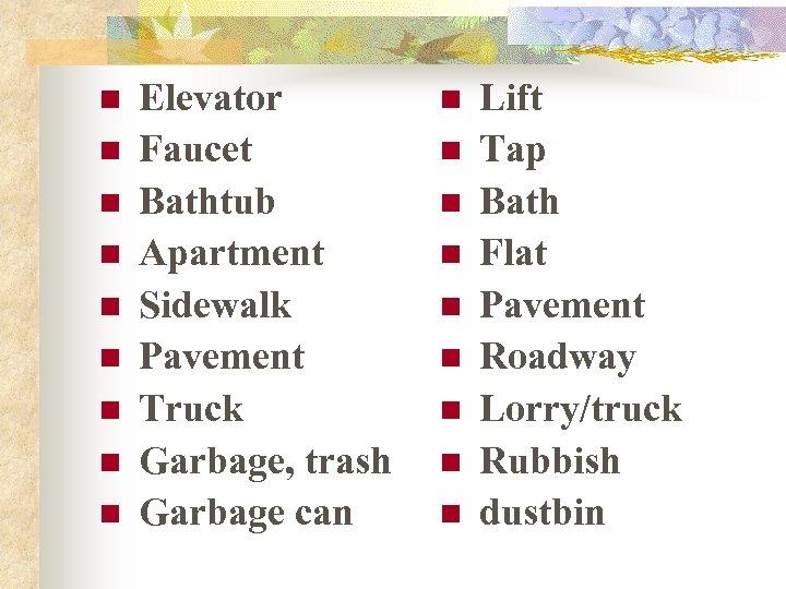 n n n n n Elevator Faucet Bathtub Apartment Sidewalk Pavement Truck Garbage, trash