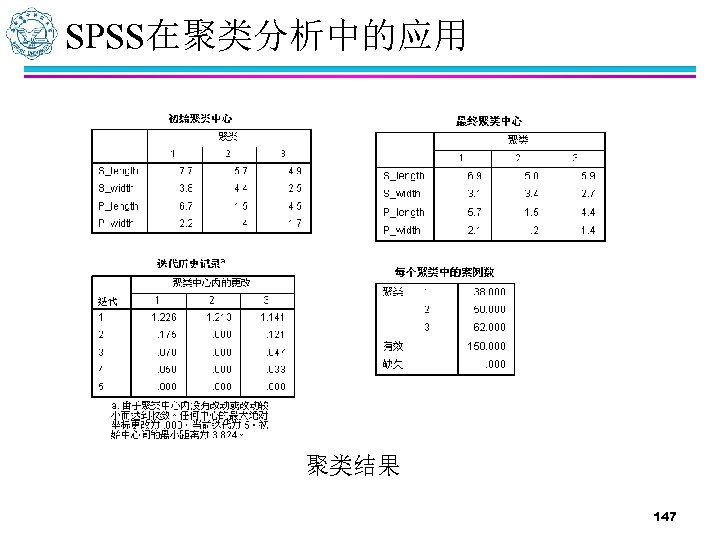 SPSS在聚类分析中的应用 聚类结果 147