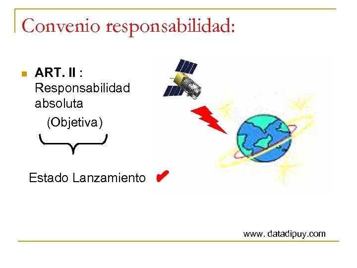 Convenio responsabilidad: ART. II : Responsabilidad absoluta (Objetiva) n Estado Lanzamiento www. datadipuy. com