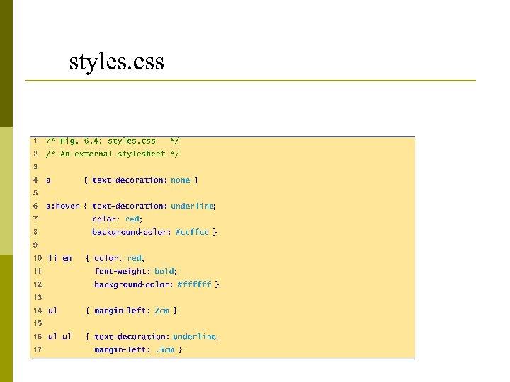 styles. css