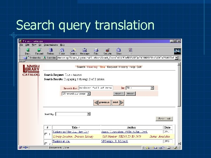 Search query translation