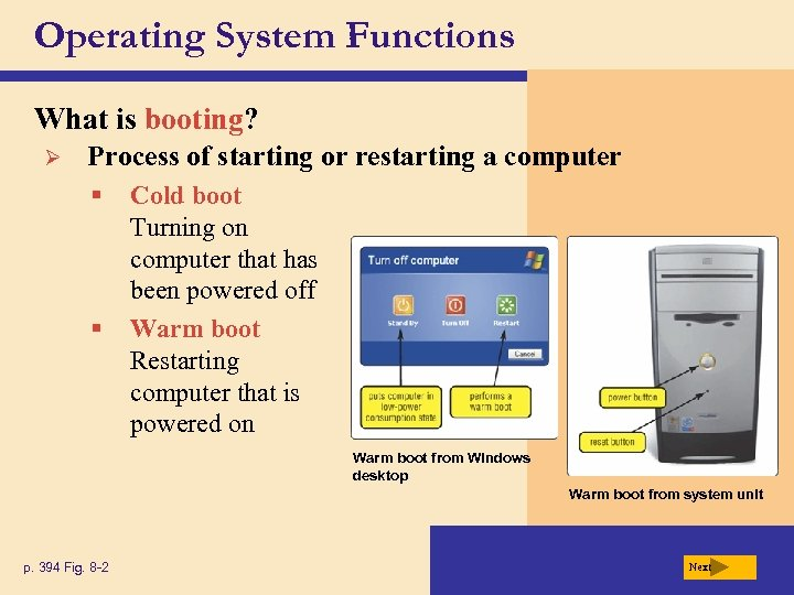 Operating System Functions What is booting? Ø Process of starting or restarting a computer