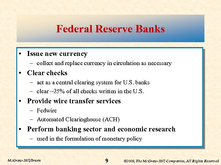 Chapter Four The Federal Reserve System Monetary Policy