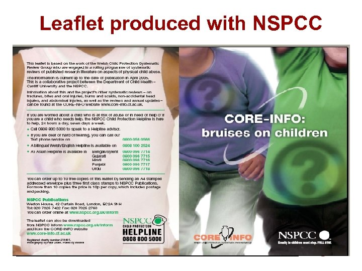 Leaflet produced with NSPCC