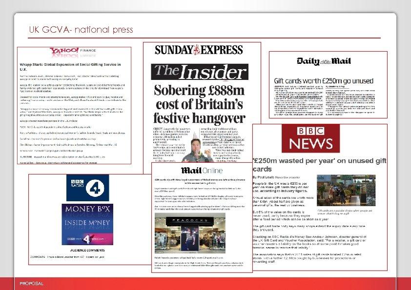 UK GCVA- national press PROPOSAL