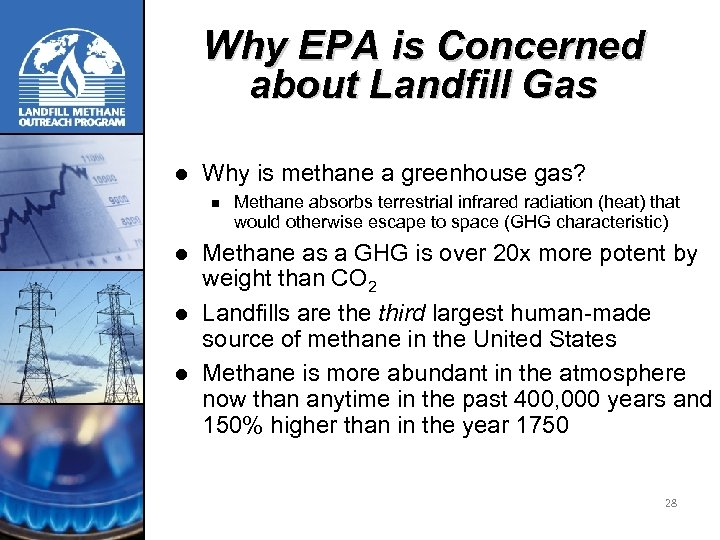 Why EPA is Concerned about Landfill Gas l Why is methane a greenhouse gas?