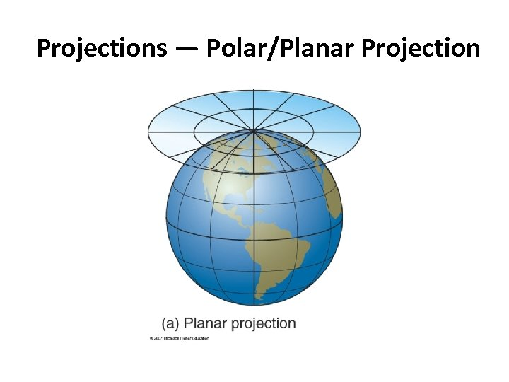 Projections — Polar/Planar Projection
