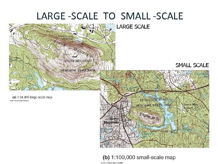 LARGE -SCALE TO SMALL -SCALE LARGE SCALE SMALL SCALE