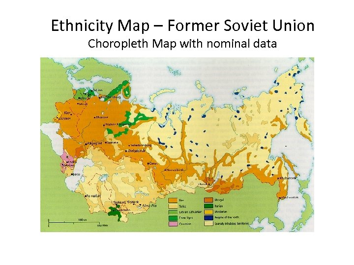 Ethnicity Map – Former Soviet Union Choropleth Map with nominal data