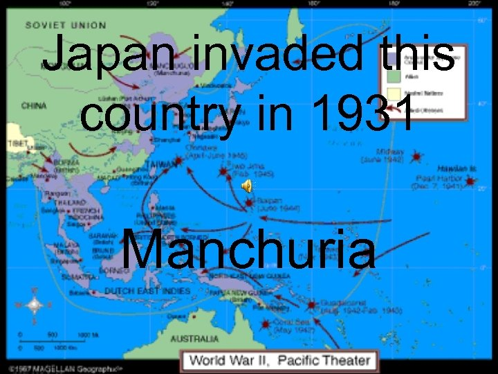Japan invaded this country in 1931 Manchuria