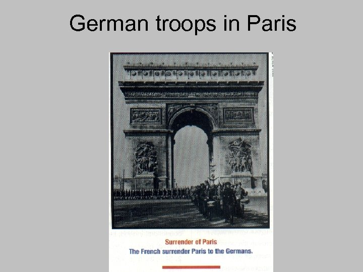 German troops in Paris