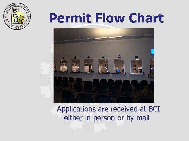 Permit Flow Chart Applications are received at BCI either in person or by mail