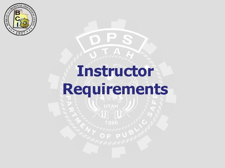 Instructor Requirements