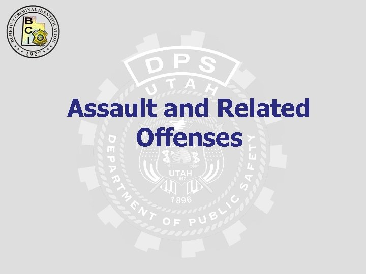 Assault and Related Offenses