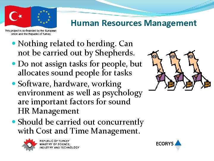 Human Resources Management This project is co-financed by the European Union and the Republic