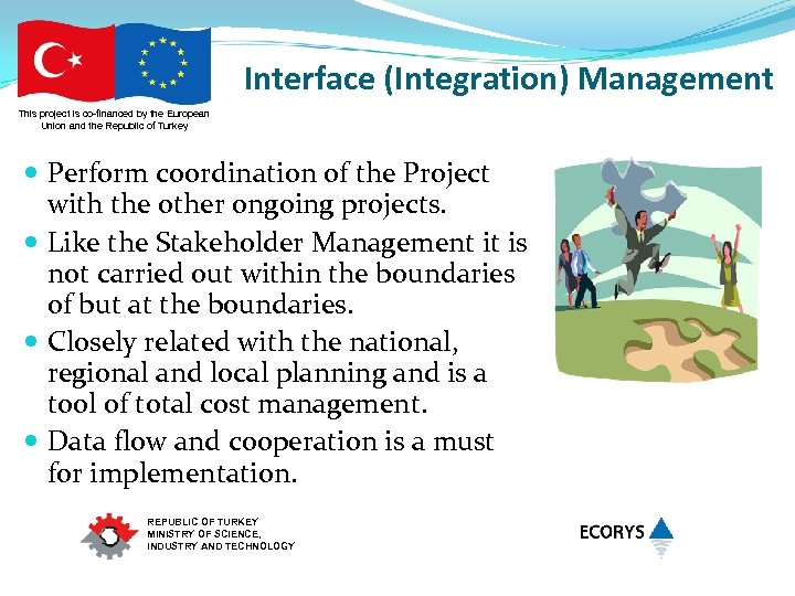 Interface (Integration) Management This project is co-financed by the European Union and the Republic