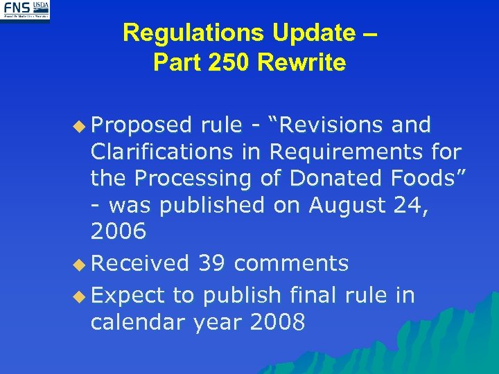 """Regulations Update – Part 250 Rewrite u Proposed rule - """"Revisions and Clarifications in"""