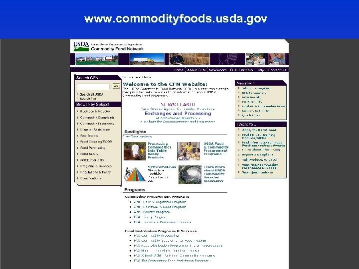 www. commodityfoods. usda. gov